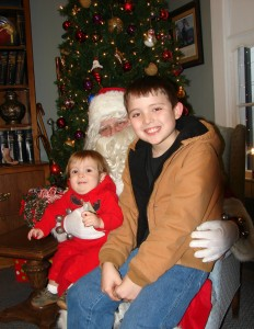 Children enjoyed visiting Santa at the Schuerman Law office in Versailles.