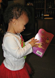 Each child who attended the Visit with Santa event received a new book in addition to other gifts.