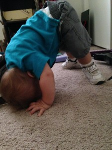 Toddler Standing on His Head
